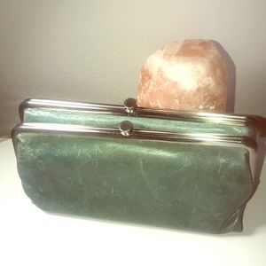 Jade & silver Hobo International handbag purse